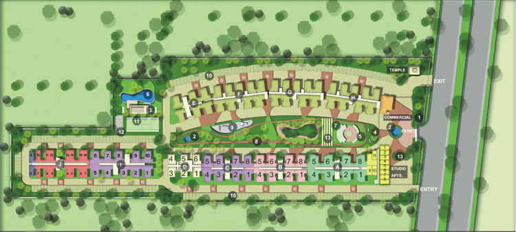 Officer city 2 Layout Plan