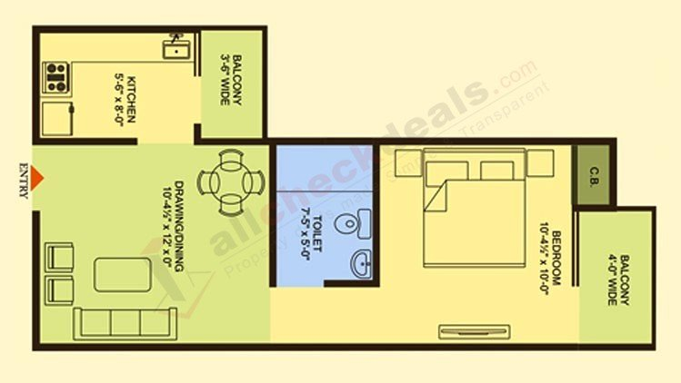 Officer city 2 Super Area 645 Sq. Ft.