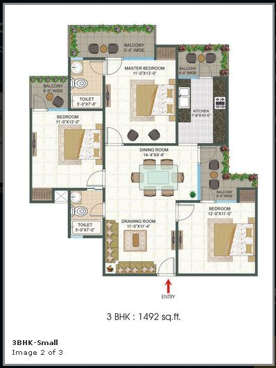 Platinum 321 floor plan 1492 sq. ft.