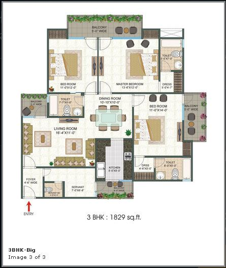 Platinum 321 floor plan 1829 sq. ft.