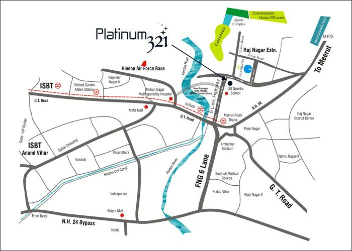Platinum 321 Location Map