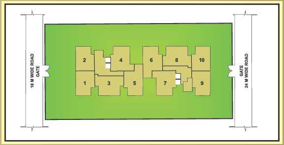 Quantum Residency Raj Nagar Extension Layout Plan