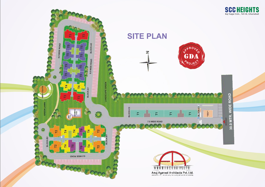 SCC Builders Raj Nagar Extension Location Map