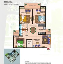 The Park Residency floor plan 1
