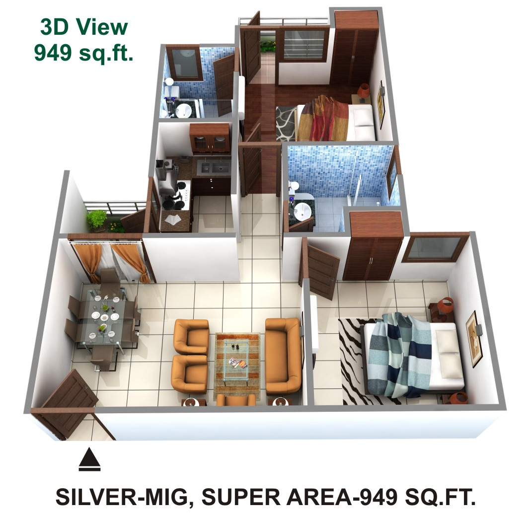 Himalaya Tanishq Raj Nagar Extension floor plan 1600 sq. ft.