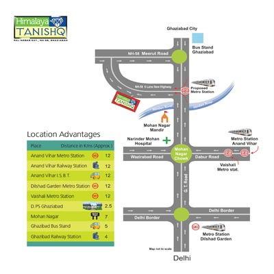 Himalaya Tanishq Raj Nagar Extension Location Map