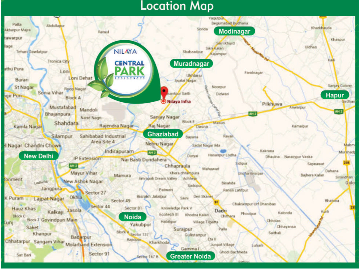 Nilaya central park Location Map