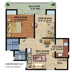 Ascent Satya Ville De Phase 1 floor plan 1
