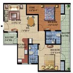 Ascent Satya Ville De Phase 1 floor plan 3