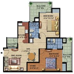 Ascent Satya Ville De Phase 1 floor plan 4