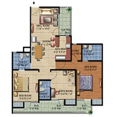 Ascent Satya Ville De Phase 1 floor plan 5