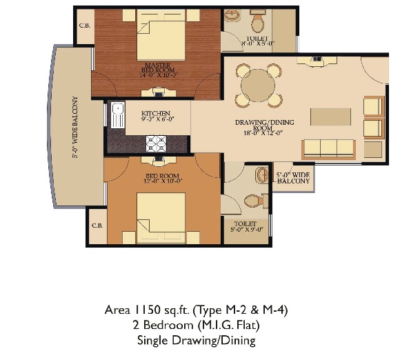 Shree Energy  floor plan 1150 sq. ft.