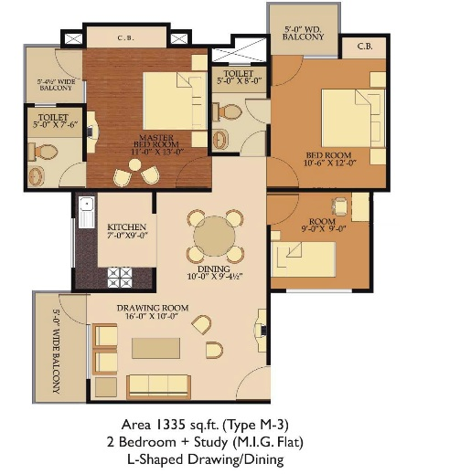 Shree Energy  floor plan 1185 sq. ft.