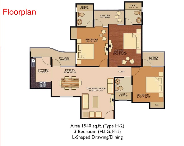 Shree Energy  floor plan 1215 sq. ft.