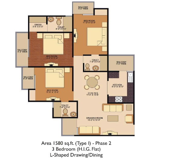 Shree Energy  floor plan 1580 sq. ft.